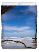 The Beach At Hunting Island State Park Duvet Cover