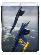 The Blue Angels Perform A Looping Duvet Cover