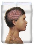 The Brain Child Duvet Cover