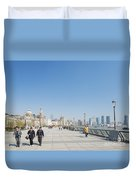 The Bund In Shanghai China Duvet Cover