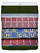 The Camp Nou Stadium In Barcelona Duvet Cover