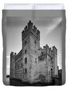 The Castle Of Sirmione. Lago Di Garda Duvet Cover