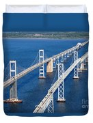 The Chesapeake Bay Bridge Duvet Cover