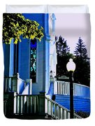 The Church Steps Duvet Cover