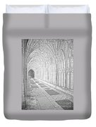 The Cloister In Gloucester Cathedral Duvet Cover