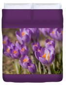 The Crocus Flowers Duvet Cover