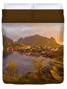 The Day Begins In Reine Duvet Cover