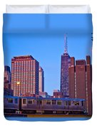 The El In Chicago  Duvet Cover