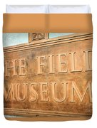 The Field Museum Sign In Chicago Illinois Duvet Cover
