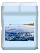 The Frozen Dnieper River Duvet Cover