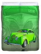 The Green Machine Duvet Cover