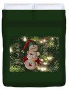 The Happy Snowman Duvet Cover