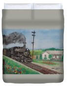 The Hillsboro Local Passing My Birthplace At Sardinia Duvet Cover