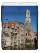 The Historic Center Of Bruges Duvet Cover