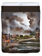 The Horse Traders Duvet Cover