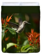 The Hummingbird Hover  Duvet Cover