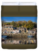 The Inner Harbour At Padstow Duvet Cover
