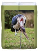 The Marabou Stork In Tanzania. Africa Duvet Cover