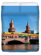 The Oberbaum Bridge In Berlin Germany Duvet Cover