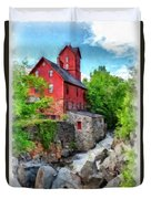 The Old Red Mill Jericho Vermont Duvet Cover