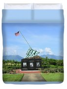 The Pacific War Memorial On Marine Duvet Cover