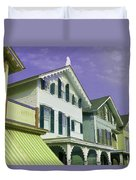 The Painted Ladies Of Cape May Duvet Cover