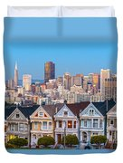 The Painted Ladies Of San Francisco Duvet Cover