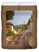 The Path To The Temple Duvet Cover
