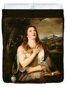 The Penitent Magdalene Duvet Cover