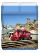 The Red Locomotive Duvet Cover