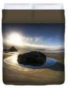 The Rock Duvet Cover by Debra and Dave Vanderlaan