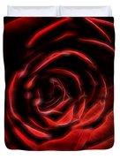 The Rose Digital Art Duvet Cover