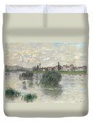 The Seine At Lavacourt Duvet Cover