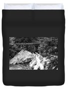 The Sinks Smoky Mountains Bw Duvet Cover