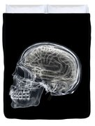 The Skull And Brain Duvet Cover