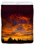 The Sky Is On Fire  Duvet Cover