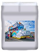 The Spirit Of Mardi Gras Duvet Cover by Steve Harrington