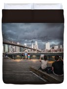 The Storm Over Manhattan Duvet Cover