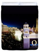 The Strip At Night Duvet Cover