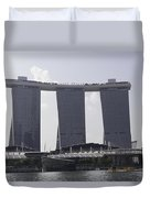 The Towers Of The Iconic Marina Bay Sands In Singapore Duvet Cover