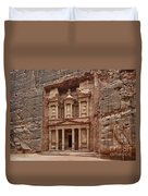the treasury Nabataean ancient town Petra Duvet Cover