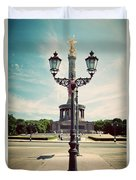 The Victory Column In Berlin Germany Duvet Cover