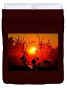 Thistles In The Sunset Duvet Cover