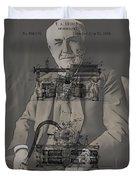 Thomas Edison's Phonograph Duvet Cover