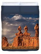 Three Sisters Hoodoos Goblin Valley Utah Duvet Cover