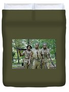 Three Soldiers Statue Duvet Cover