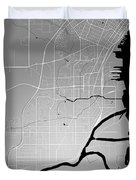 Thunder Bay Street Map - Thunder Bay Canada Road Map Art On Colo Duvet Cover