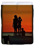 Time With Friends Duvet Cover