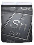 Tin Chemical Element Duvet Cover