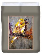 Tired Bird Duvet Cover